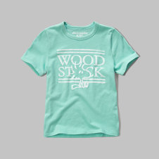 girls woodstock graphic tee