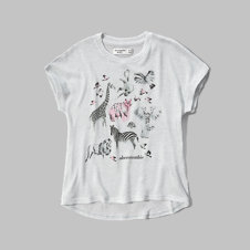 girls snit graphic tee