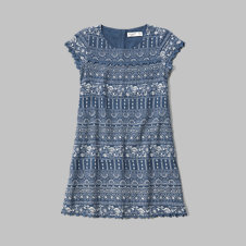 girls lace shift dress