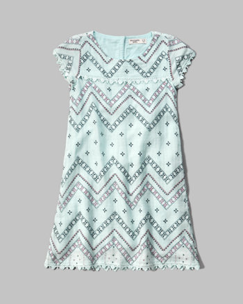 kids patterned shift dress