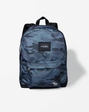 kids standard nylon logo backpack
