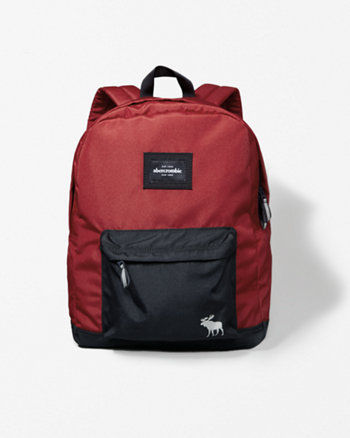 kids logo nylon backpack