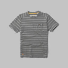 girls striped pocket tee