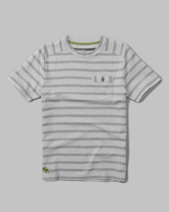 kids striped pocket tee
