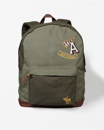 kids logo canvas backpack