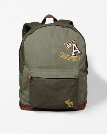 kids logo canvas backpack