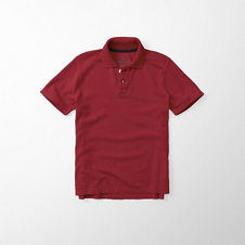 girls contrast trim solid polo