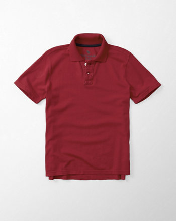 kids contrast trim solid polo