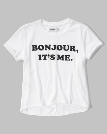 kids bonjour graphic tee