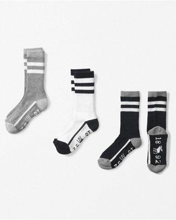kids logo calf socks