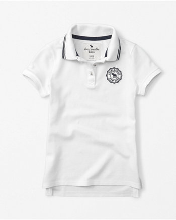 kids icon crest polo