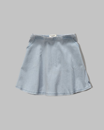 kids denim skater skirt