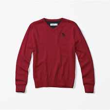 girls icon v-neck sweater