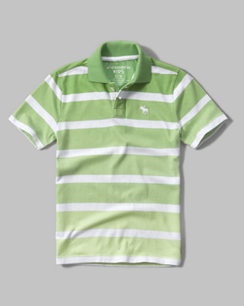 kids ombre stripe polo