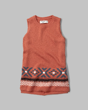 kids patterned sweater tank
