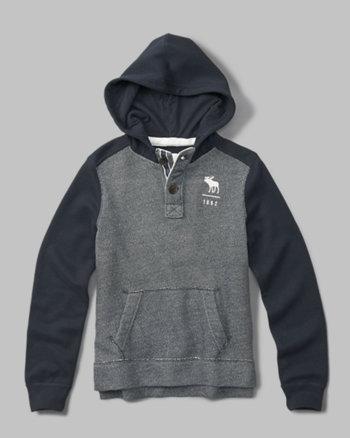 kids henley hoodie