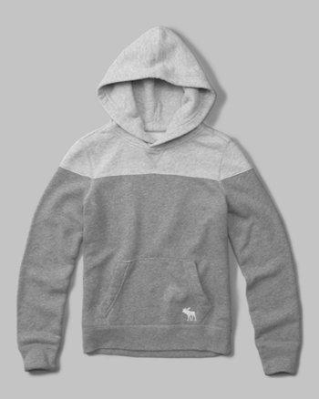 kids logo color block hoodie
