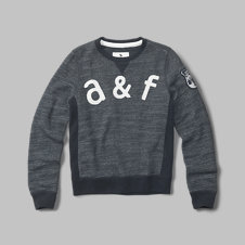 girls french terry crew sweatshirt