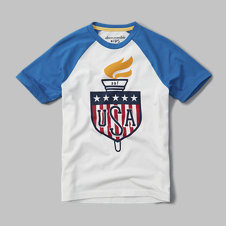 girls usa graphic tee