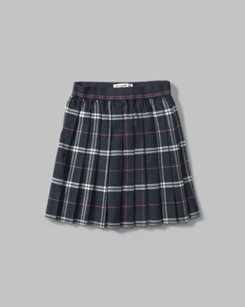 kids plaid pleated skirt