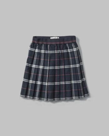 kids plaid pleated skirt