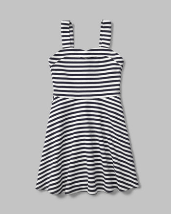 kids Indigo Knit Skater Dress