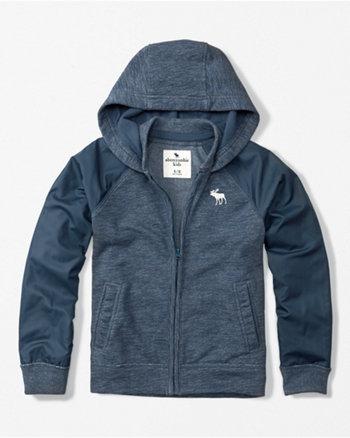 kids logo baseball hoodie