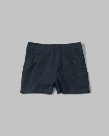 kids military midi shorts