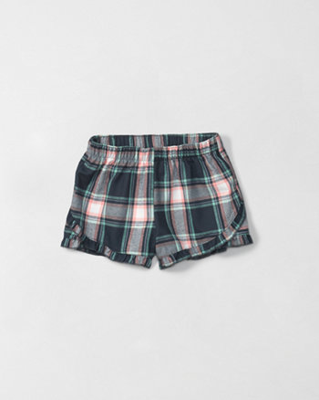 kids ruffle sleep shorts