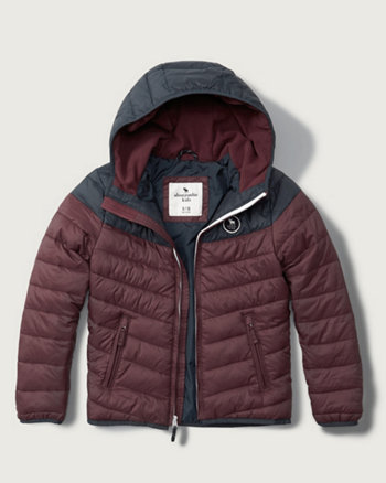 kids lightweight hooded puffer jacket
