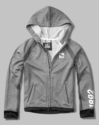 kids active logo full-zip hoodie
