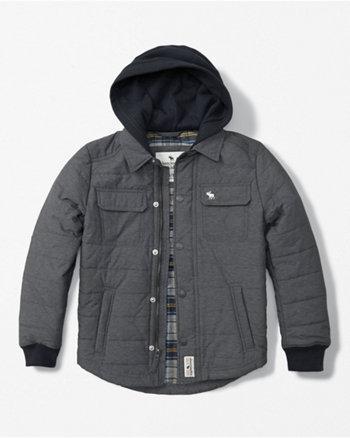 hooded twofer jacket
