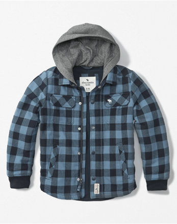kids hooded twofer jacket