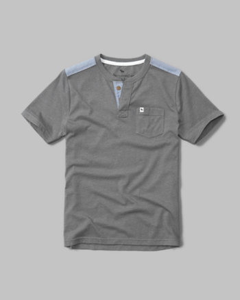kids pocket henley