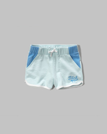 kids colorblocked fleece shorts