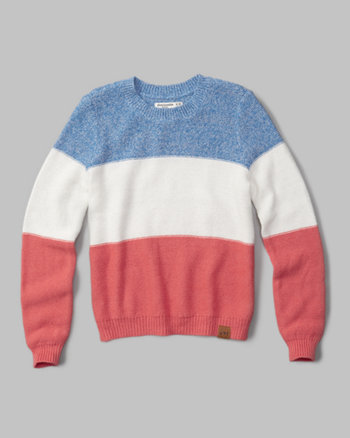 kids striped crew sweater