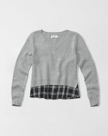 kids twofer v-neck sweater
