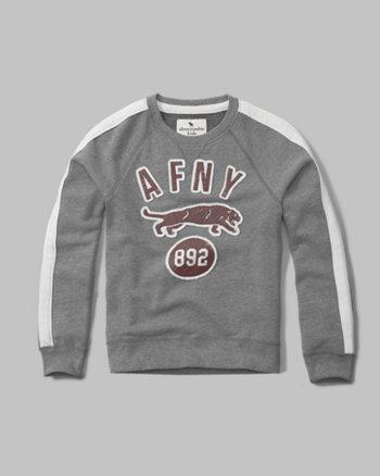 kids varsity logo sweatshirt