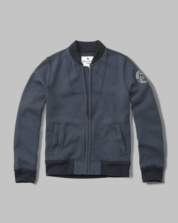 kids zip-up bomber sweatshirt