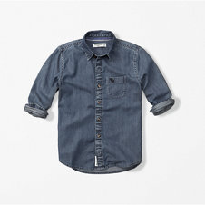 girls logo chambray shirt