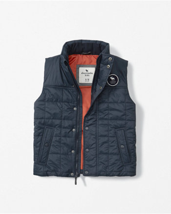 kids quilted full-zip vest