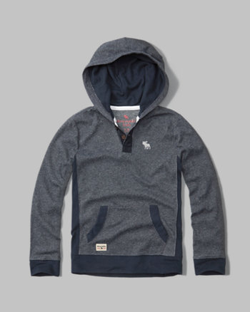 kids hooded icon henley