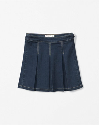 kids pleated denim skirt