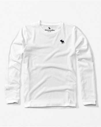 kids long-sleeve icon crew tee
