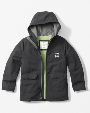 kids logo hooded technical jacket