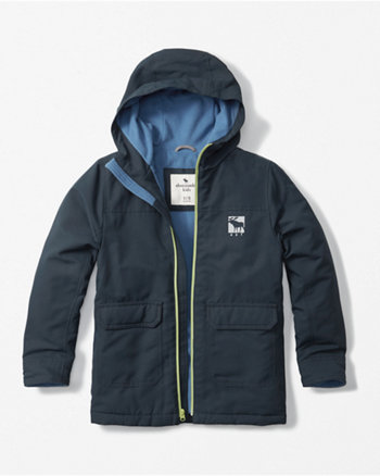 kids hooded all-weather jacket