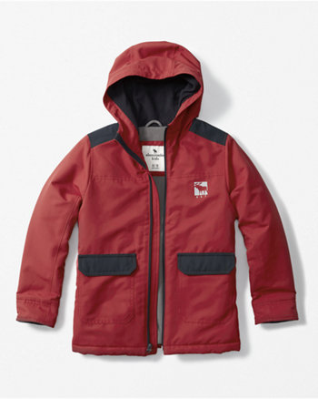 kids hooded technical jacket