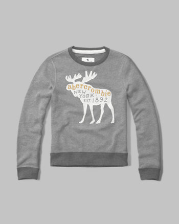 kids logo crew neck sweatshirt