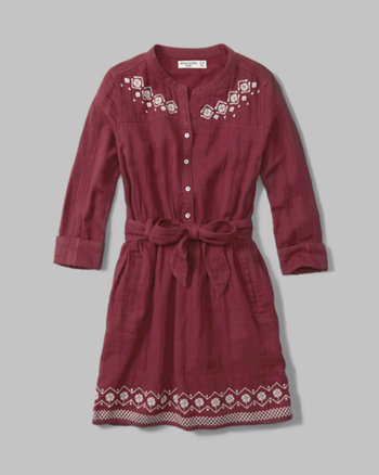 kids embroidered peasant dress