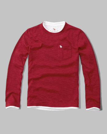 kids twofer long-sleeve snit tee